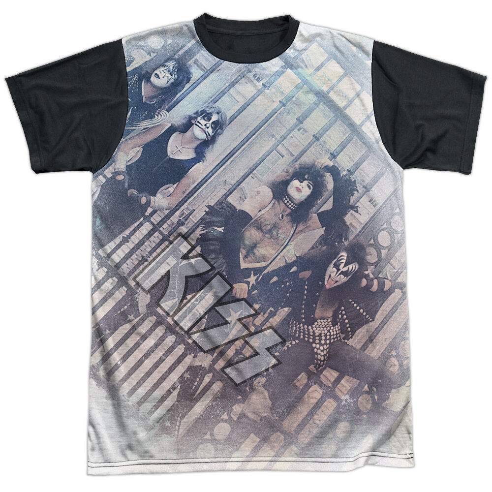 9d271091c48775 Details about KISS Licensed Adult Men's Graphic Band Tee Shirt SM-3XL