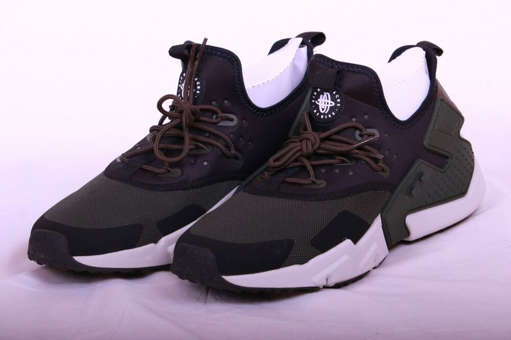 8753c668b54e6 Details about Nike Men s Air Huarache Drift Sequoia Green Bone Black AH7334  300 Size 12