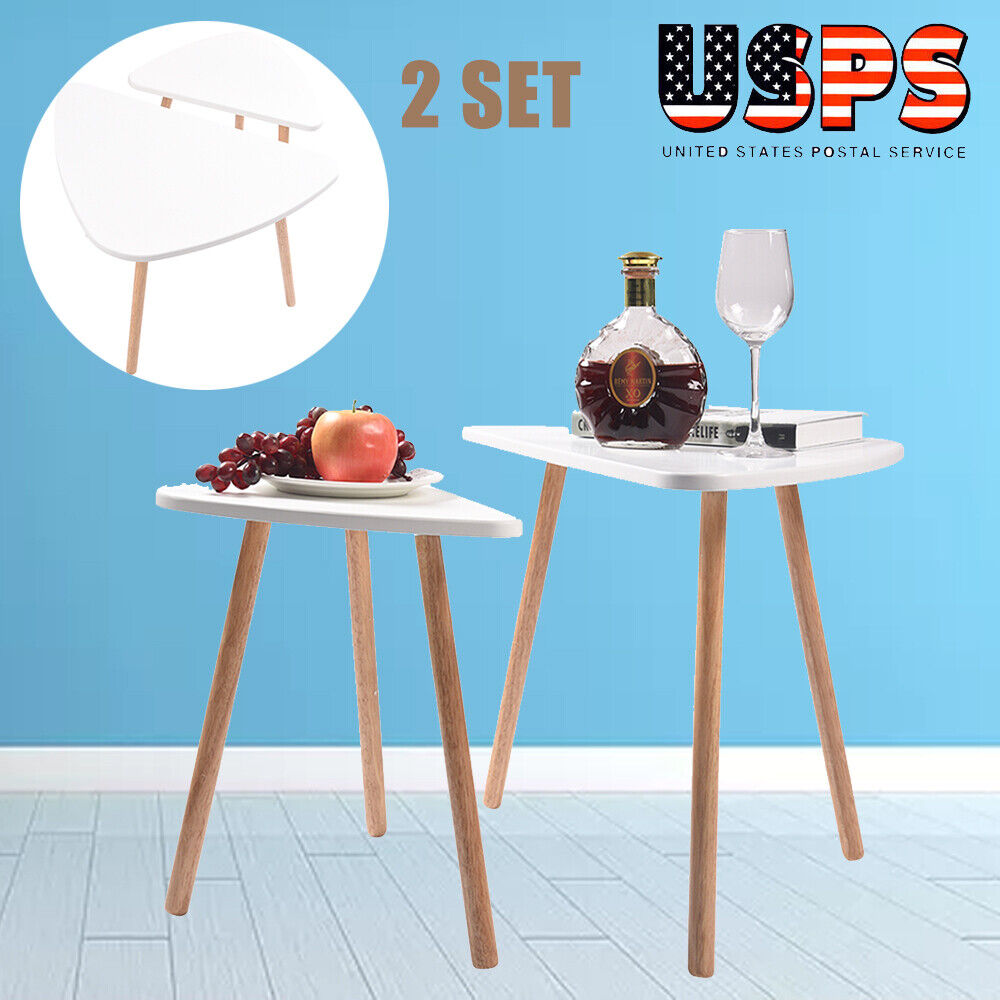 Set of 2 Nesting Tables Stacking Coffee/Side/End Tables ...