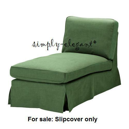 Details About Ikea Rp Cover For Free Standing Chaise Lounge Slipcover Svanby Green