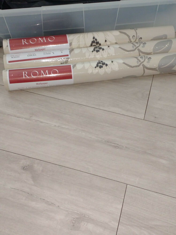 3 rolls of ROMO Kimura floral wallpaper Linen Colour - W205-01 . Brand new | eBay