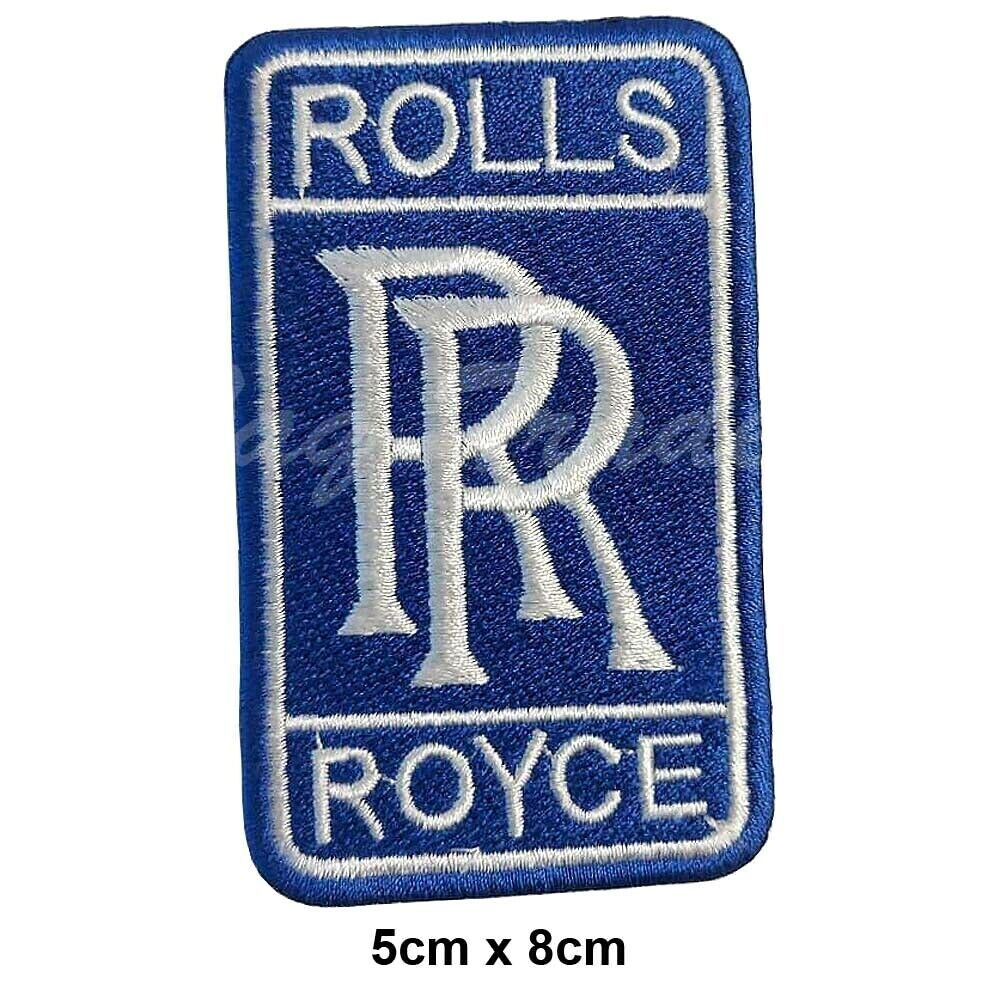0c311f31a09c Details about Rolls Royce Embroidered Logo Crest Badge Iron  Sew On Fancy  Dress Patch