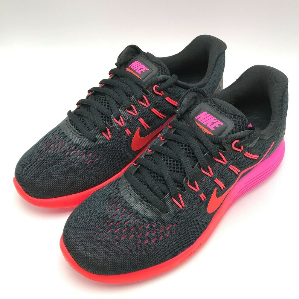 quality design 55b08 55d90 Details about Nike Lunarglide 8 Women s Running Shoes Black   Bright  Crimson 843726-006