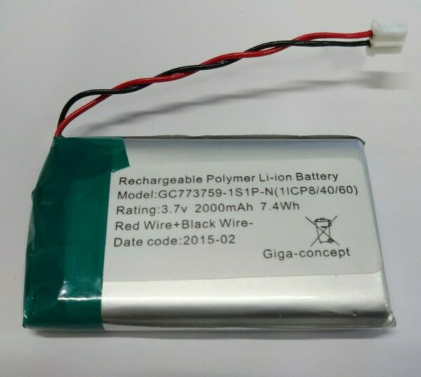 Batterie rechargeable polymer 3.7 Volt 2000 mah 7.4Wh Li-ion battery