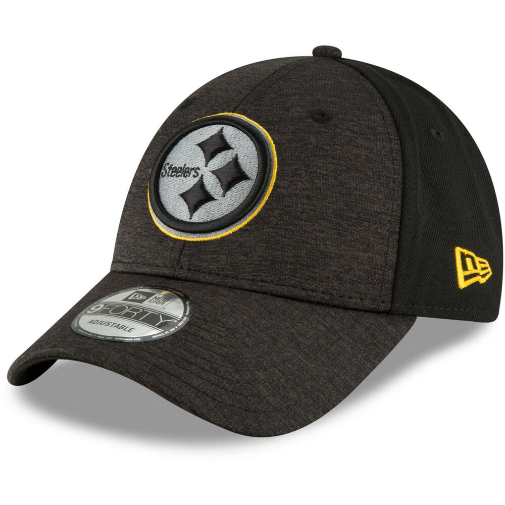 9e127fadd72fbc Details about Pittsburgh Steelers New Era Shaded Front 9FORTY Adjustable Hat