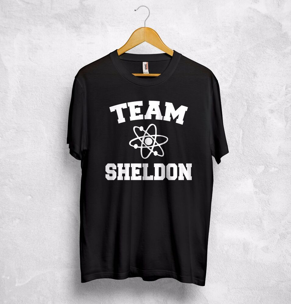 18a6a75c8e Details about Team Sheldon Cooper T Shirt The Big Bang Theory Bazinga 73  NASA Batman Penny