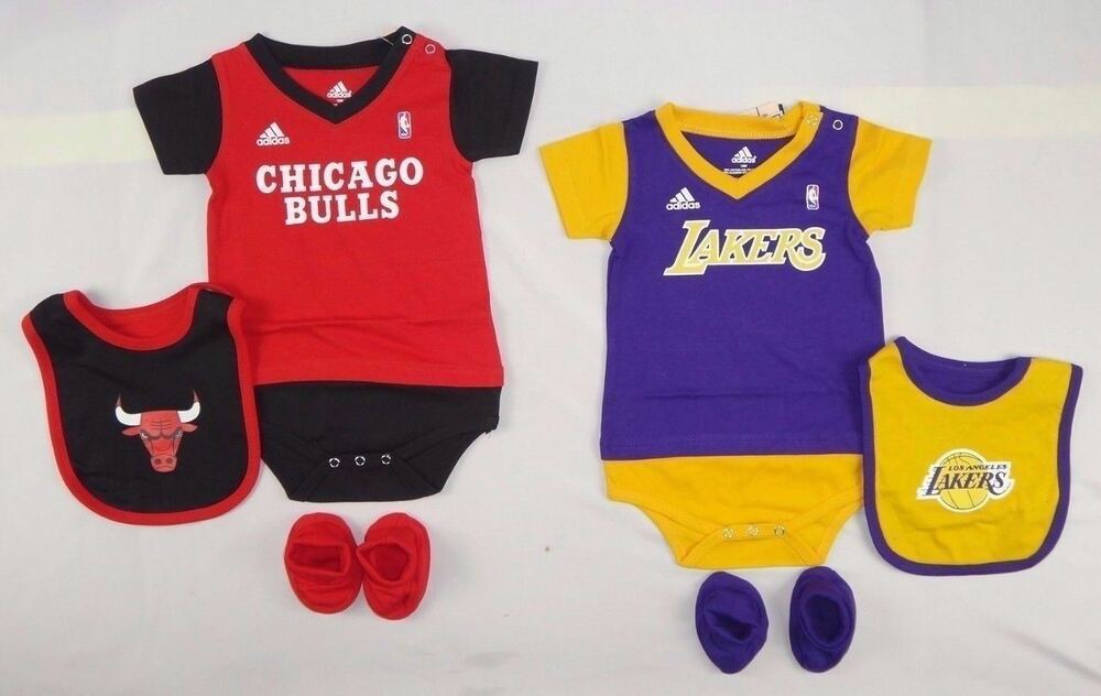 e788b88f5aa Details about Adidas Baby Boys set NBA Lakers Chicago Bodysuit