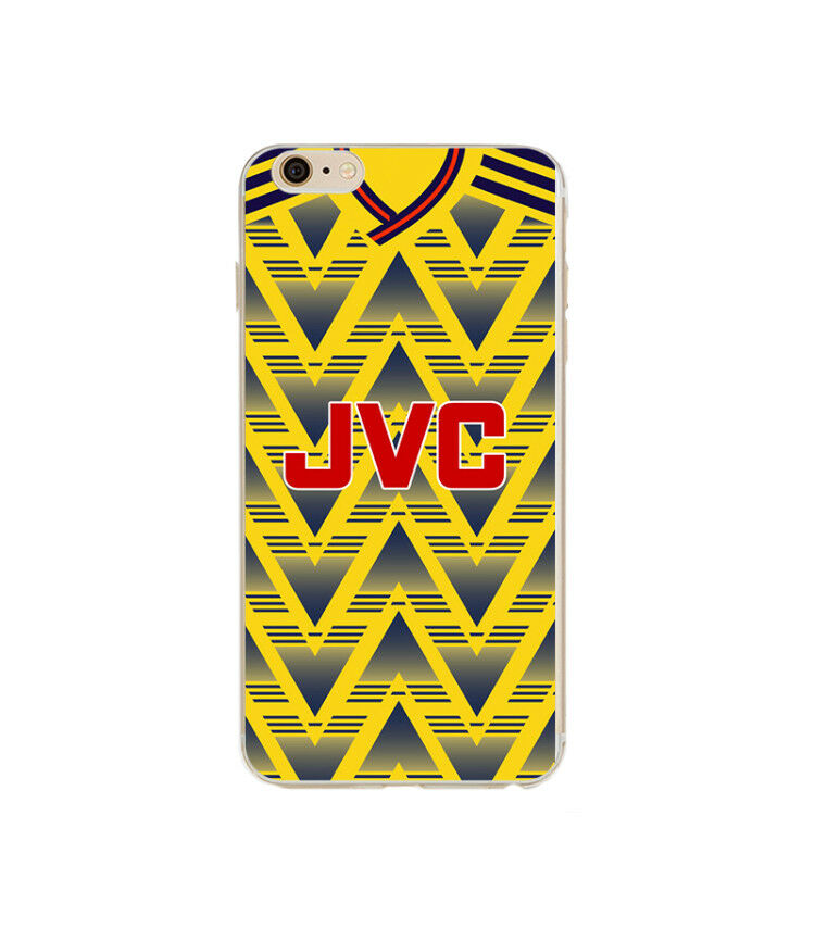 50224aee823 Arsenal Style Retro Kit Shirt Hard iPhone 5 SE 6 6s 7 8 X XS Phone Cover  Case | eBay