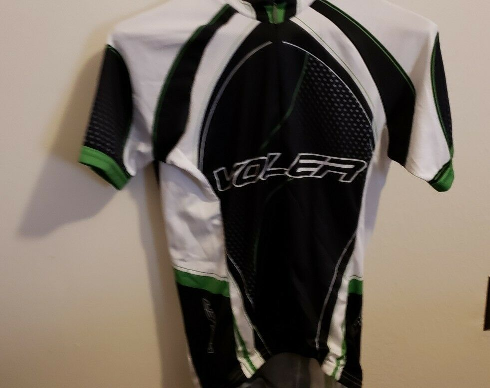 New Primal Men Team Bio-Rad Bike Green Raglan Short Sleeve Small Cycling Jersey