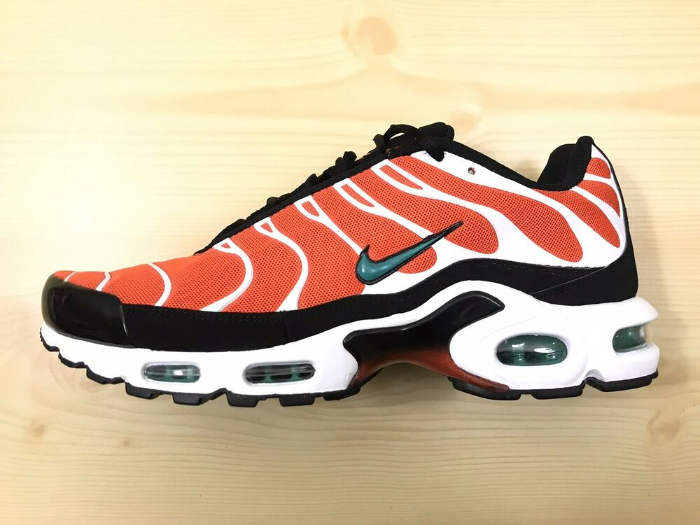 watch 0f042 e07d9 Details about New Nike Air Max Plus TN Tuned 1 Men s (Size 10.5) Orange  White Black 852630-801