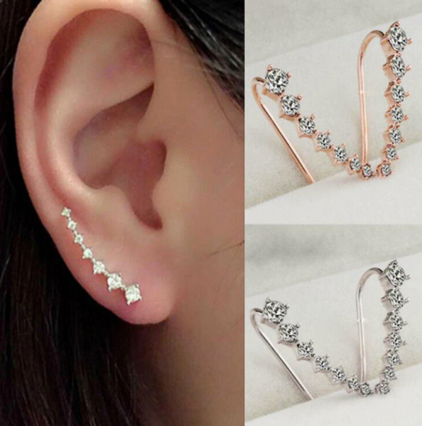 Boucles d'oreilles faux diamants strass fake diamond Earrings Diamant Ohrringe