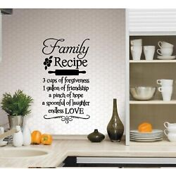 Family Recipe: Kitchen Wall Decal 13'' x 24