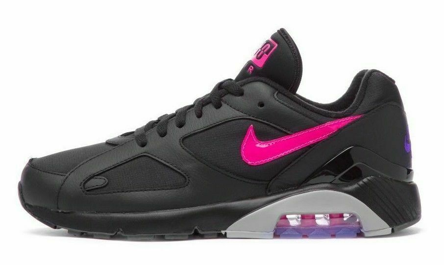 newest collection bf602 7160f Details about MEN S NIKE AIR MAX 180 SHOES black pink blast grey AQ9974 001  MSRP  140