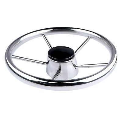 Marine Boat Stainless Steel 5 Spokes Steering Wheel 11'' Diameter