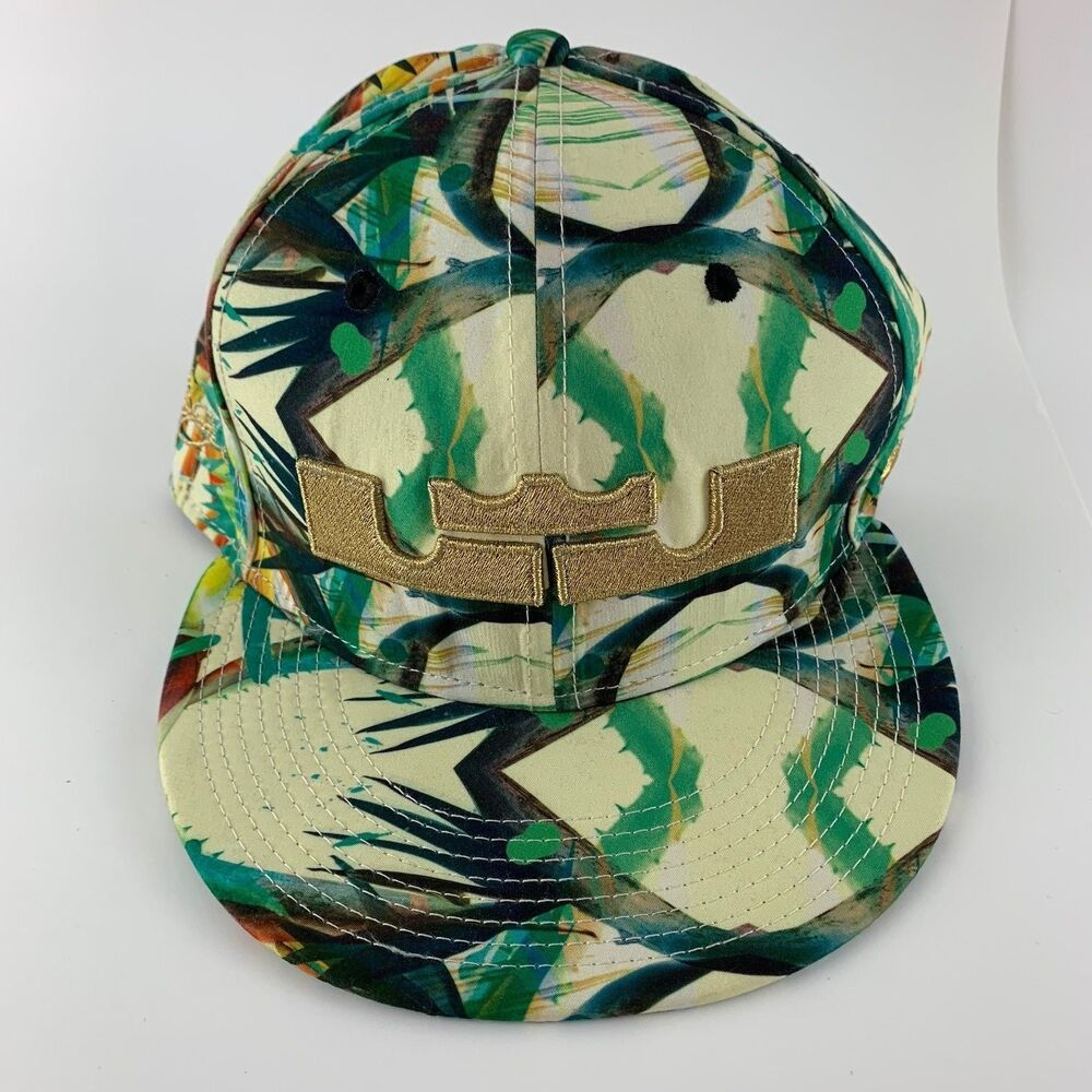 9253bf784433d Details about NIKE LEBRON JAMES SNAPBACK HAT CHAMPIONSHIP PACK CELEBRATION  FLORAL TRUE CAP