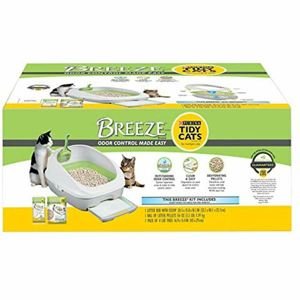 Breeze Cat Selfcleaning Litter Boxes System Starter Kit Pet Supplies
