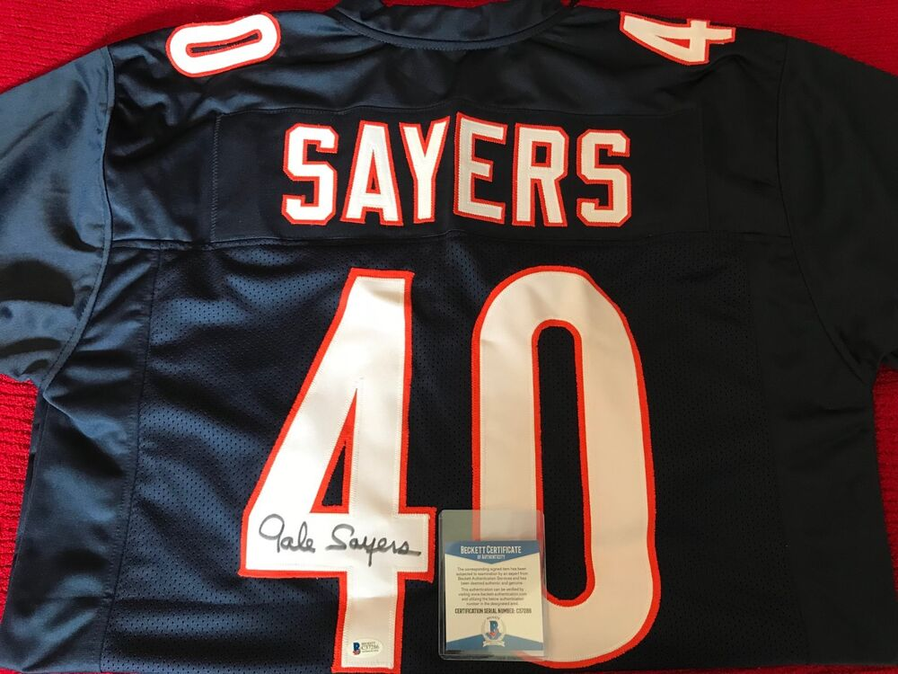 4394373f112 Details about 100% BAS Authentic Autographed NFL Jersey GALE SAYERS Chicago  Bears Signed Auto