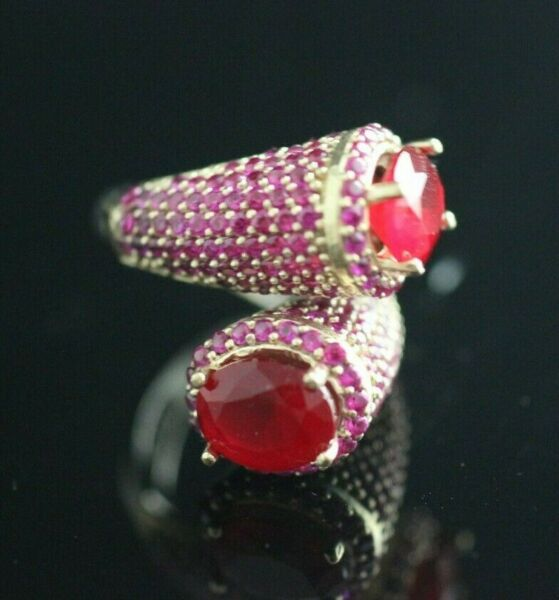 Turkish Handmade Jewelry Sterling Silver 925 Ruby Ring ADJUSTABLE
