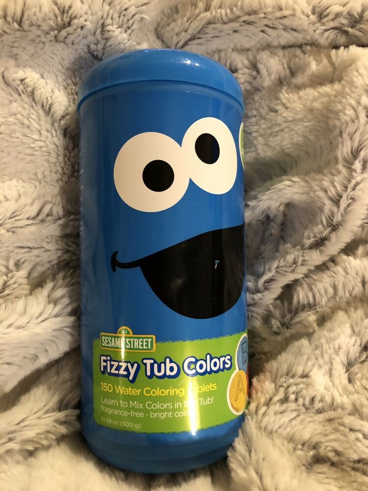 Sesame Street Bath Fizzy Tub Colors 150 Water Coloring