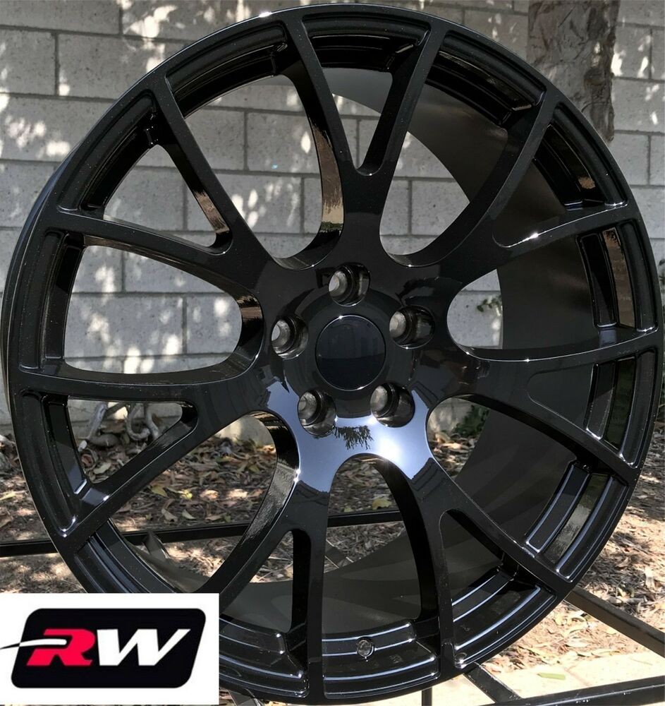 Details About 20x9 20x10 Wheels For Dodge Charger Gloss Black Rims Srt Hellcat 5x115