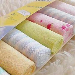 Kyпить 8pcs/Pack Baby Newborn Face Washers Hand Towel Cotton Feeding Wipe Wash Cloth на еВаy.соm