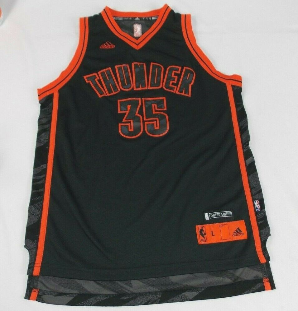 a1c1fe926 Details about Adidas Youth Boys Oklahoma City Thunder  35 Limited Ed. Kevin  Durant L Jersey