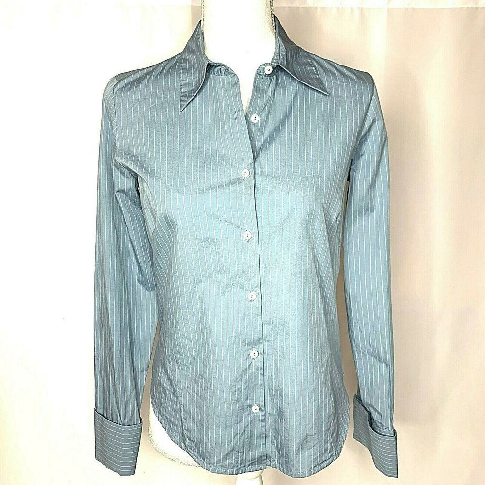 5d73e67772 Details about Women's Long Sleeve Button Down Blouse by Banana Republic, Light  Blue, Size S