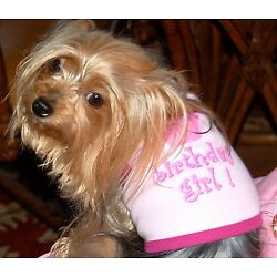 Pink I'm the Birthday Girl Dog or Cat T Shirt by I See Spot for dog or Cat
