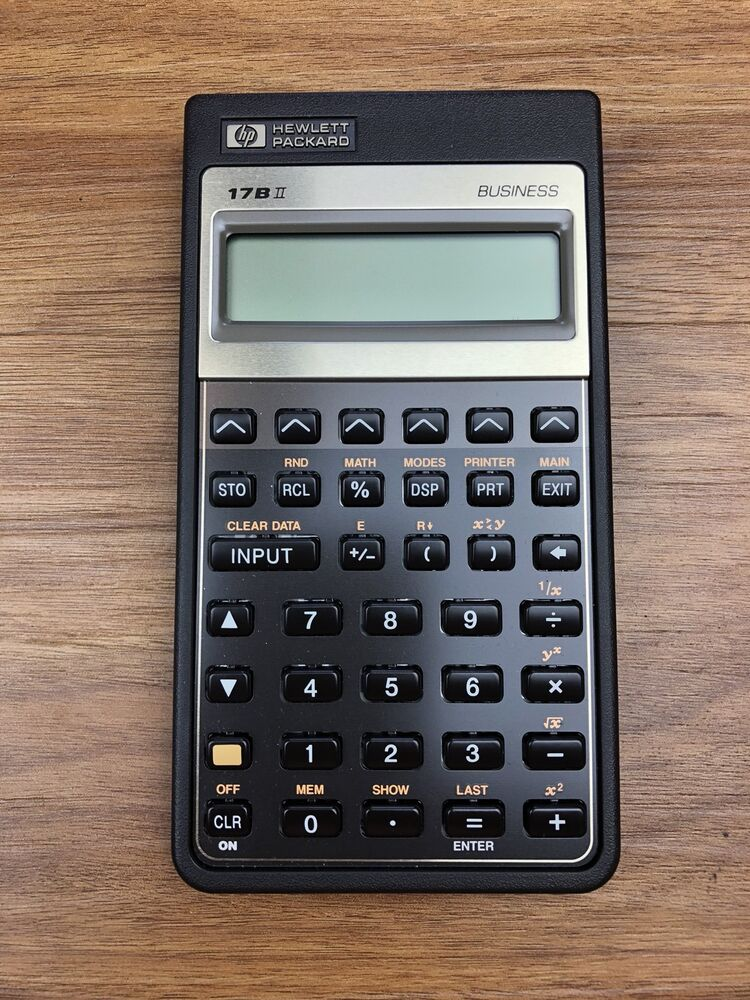 HP 17BII Business Financial Calculator In Great Condition ...