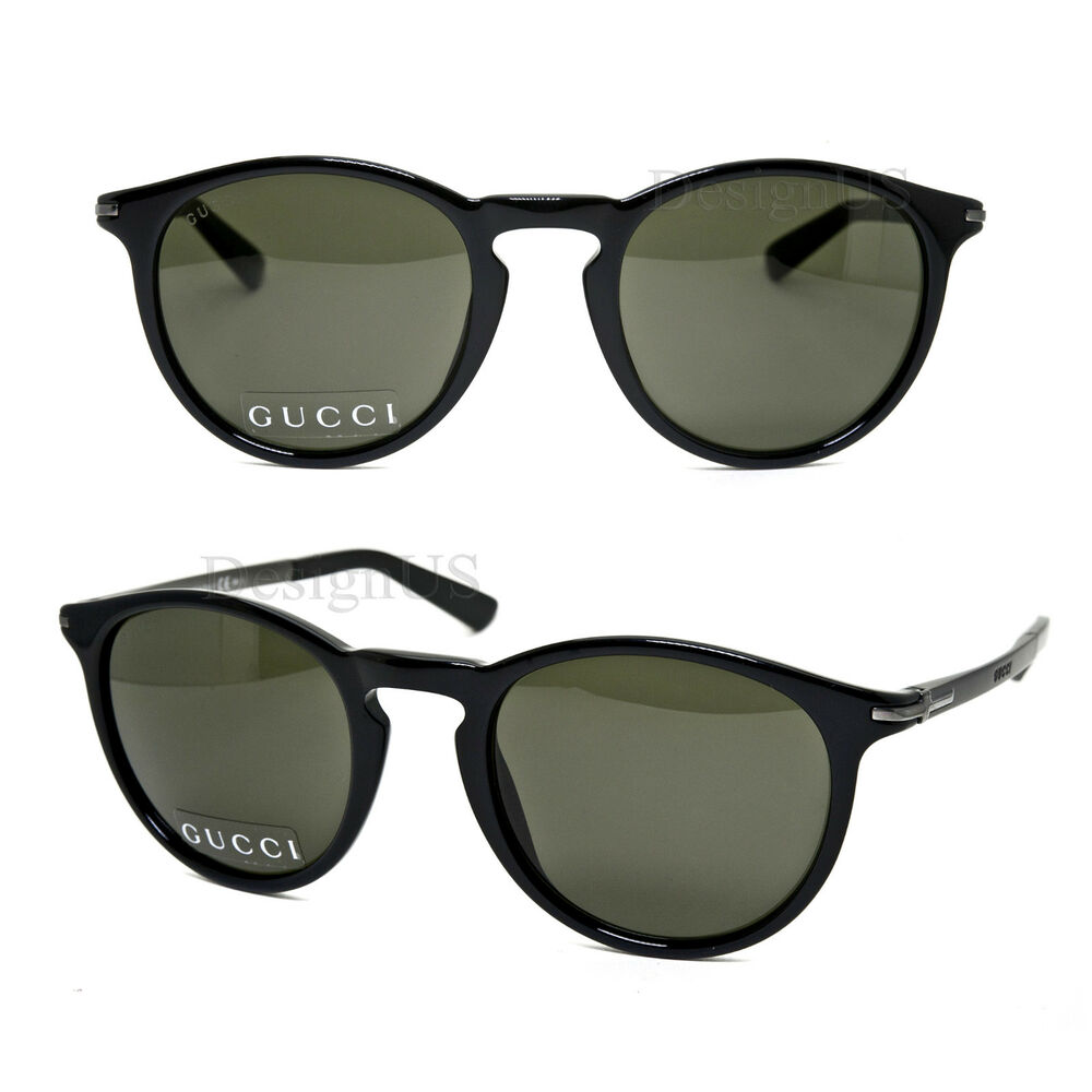 18d3bb6327 Details about GUCCI GG 1110 S B2XNR Shiny Black Gray 51 22 140 Sunglasses  Made Italy New