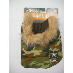 Us Army Reversible Deluxe Hooded Parka Dog Coat Camouflage Various Sizes NWT