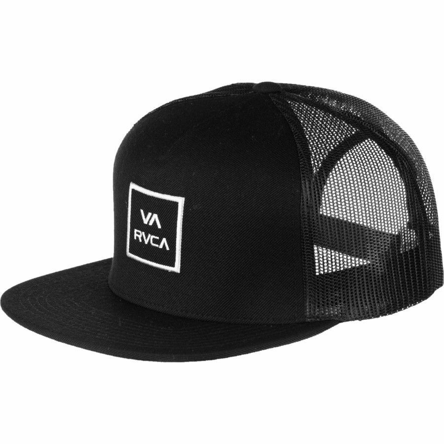 quality design 79e16 72ae1 Details about NEW RVCA All the Way Trucker Hat Black Snap Back Cap Snapback