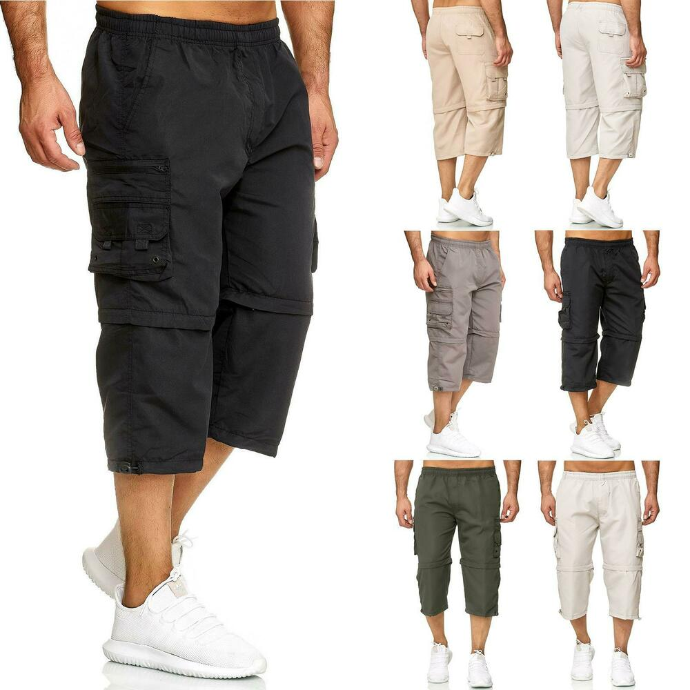 073ea6e0a8 Details about New Mens 3/4 Long Shorts to Knee Length Zip Off Elasticated  Cargo 2 in 1 Summer