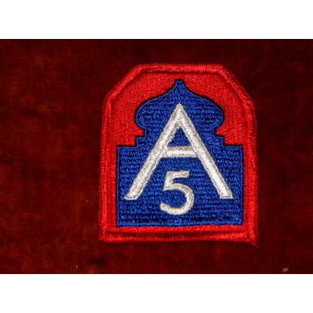 img-US Army 5th Army Shoulder Insignia Type 1 Class 1 Mint Genuine
