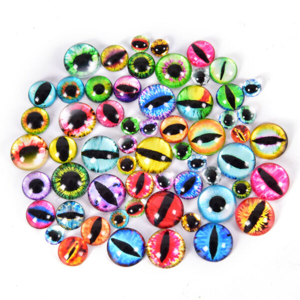 20Pcs Glass Doll Eye Making DIY Crafts For Toy Dinosaur Animal Eyes Accessories*