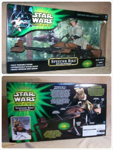 "STAR WARS - HASBRO - POTJ - Speeder Bike & Luke - 12"" - 1/6 - NEUF"