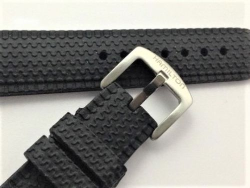 New 22mm Gents Silicone / Rubber Sports Watch Strap For Hamilton Watch