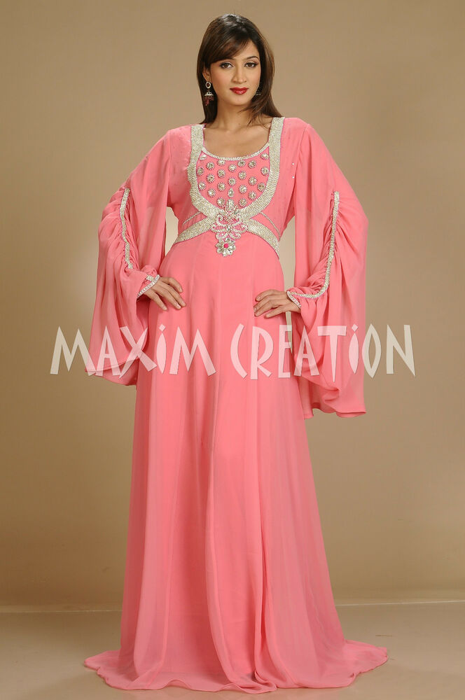d4432d7b3f Details about NEW LADIES MAXI DRESS JILBAB ABAYA FARASHA CAFTAN THOBE  WEDDING GOWN 3081