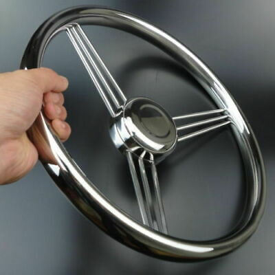 Marine Yacht Boat 13-1/2'' Steering Wheel Stainless Steel 9 Spokes Polished