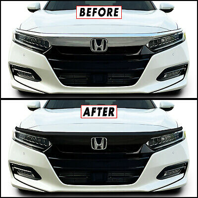 Chrome Delete Blackout Overlay for 2018-20 Honda Accord Front Grille Trim