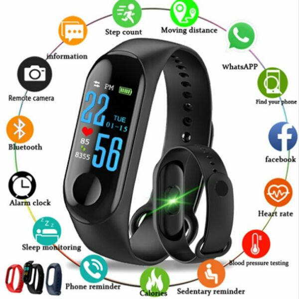 Smart Band Watch Bracelet Fitness Activity Tracker Blood Pressure HeartRate NEW