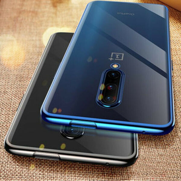For OnePlus 7T Pro 6T 5 Ultra-thin Electroplating Clear Soft Silicone Case Cover