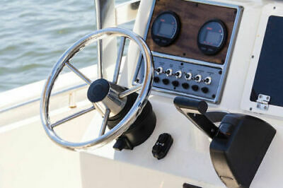 Stainless Steel 5 Spokes Boat Steering Wheel 11'' Dia for Marine Yacht/Pontoon