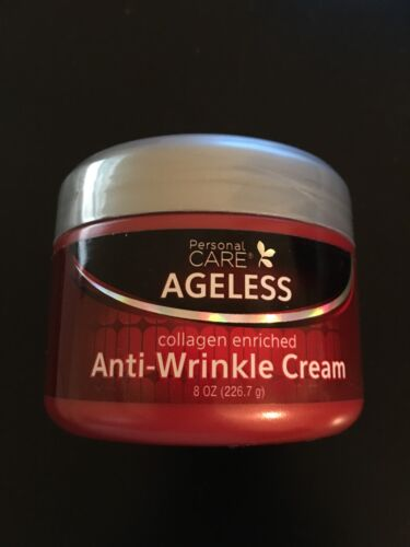12X Personal Care Ageless Collagen Enriched Anti-Wrinkle Cream 8oz (226.7 g) NEW