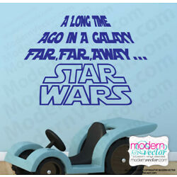 STAR WARS A Long Time Ago Quote Vinyl Wall Decal Lettering Vinyl sticker