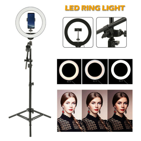 Studio 160 LED Ring Light con supporto Dimmable Photo lampada video fotocamer