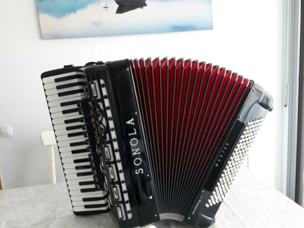 Acordeon accordion akkordeon fisarmonica 120 bajos CASSOTTO Sonola 5