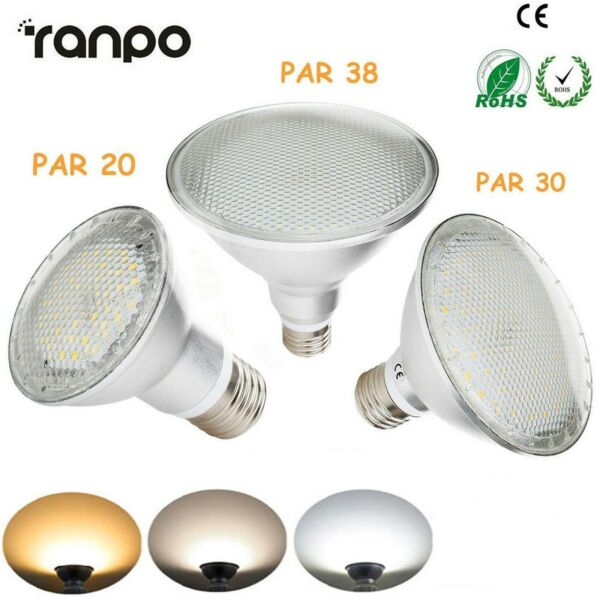 Dimmable PAR20 PAR30 PAR38 E27 LED Light Bulb 15W 25W 30W Bright Lamp 220V RC170