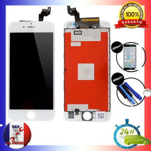 VITRE TACTILE & ECRAN LCD RETINA S/ CHASSIS IPHONE 6S BLANC + OUTILS + VERRE 24H