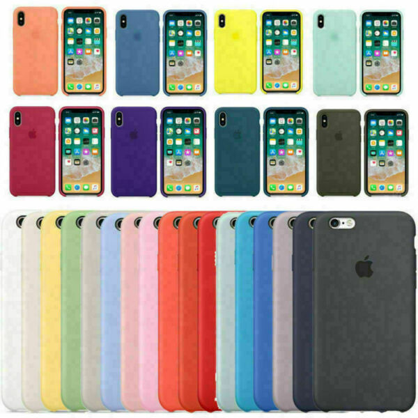 Cover Custodia In Silicone Originale Soft Per Apple iPhone X XR XS Max 7 8 Plus